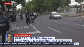 Damnificados del sismo 19S retiran bloqueo en Tlalpan