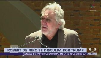 De Niro se disculpa con Trudeau por comportamiento de Trump