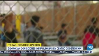 Denuncian condiciones infrahumanas centro detención migrante