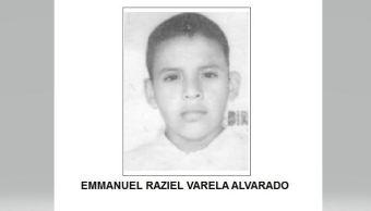 Desactivan Alerta Ámber para localizar a Emmanuel Raziel Varela Alvarado
