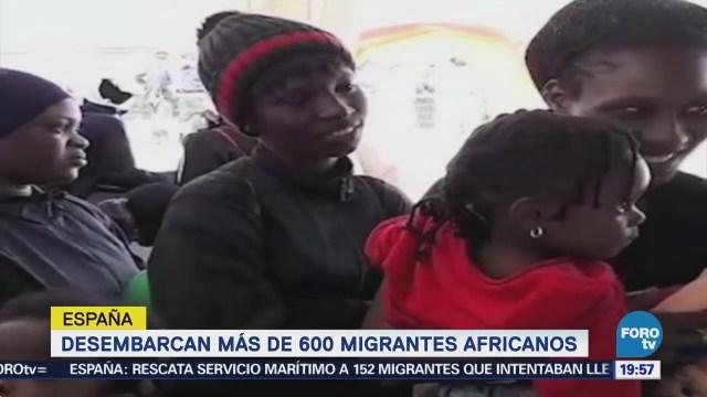 Desembarcan España Más 600 Migrantes Africanos