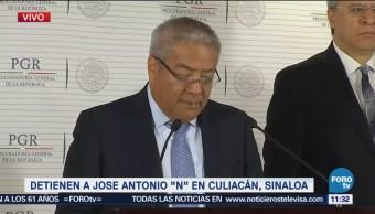 Detienen a José Antonio N en