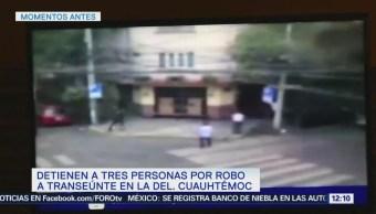 Detienen Tres Personas Robo Colonia Roma Cdmx