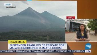 Detienen las labores de rescate en Guatemala por mal clima