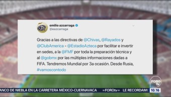 Emilio Azcárraga agradece la elección de México para el Mundial 2026