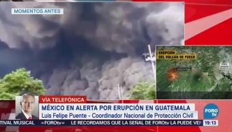 Erupción Volcán Fuego Fue Bastante Grande Luis Felipe Puente
