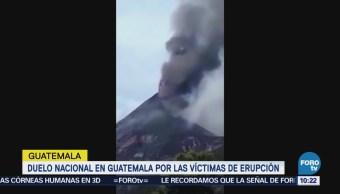 Erupción en Guatemala sepulta comunidades