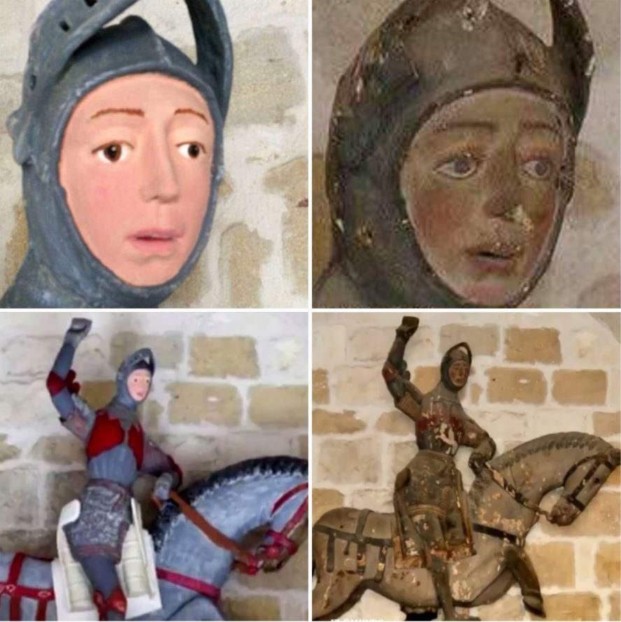 Queda arruinada escultura española de hace 5 siglos al