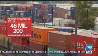Estados Unidos redujo su déficit comercial