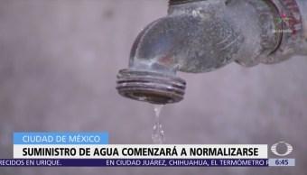 Este viernes se normalizará abasto de agua en la CDMX