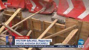 Excavación Inconclusa Afecta Tránsito Avenida Bucareli Cdmx