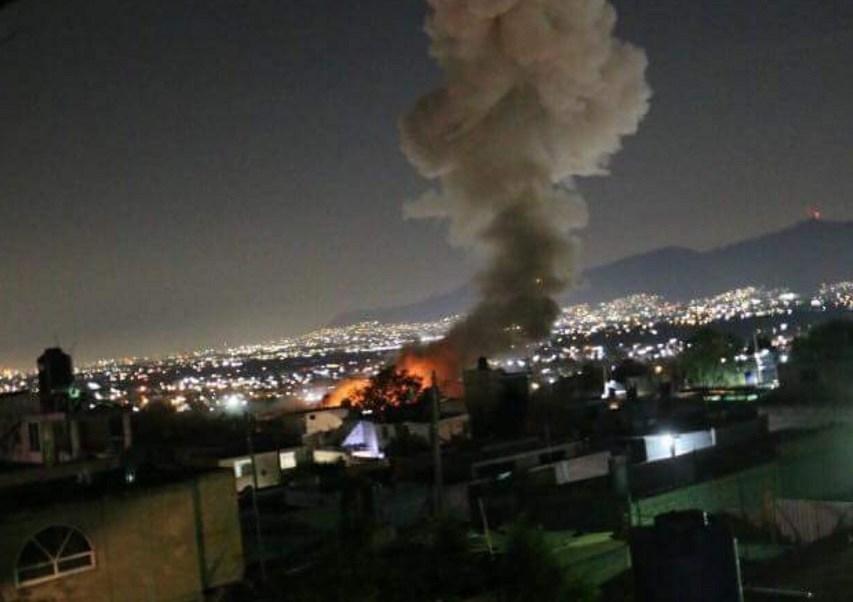 Se registra explosión en Tultepec, Estado de México