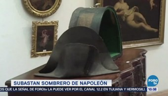 Extra Extra: Subastan sombrero de Napoleón