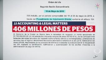 Finanzas CDMX Desconoce Contrato Empresa Fantasma