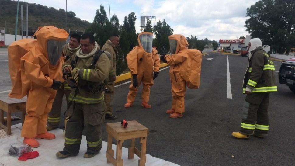 Se accidenta pipa con amoniaco autopista Guadalajara-Tepic