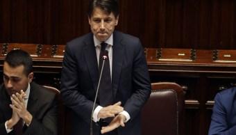 Giuseppe Conte logra su investidura en Parlamento italiano