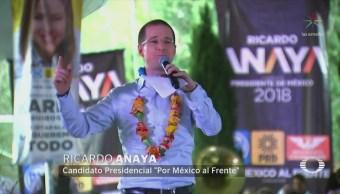 Gobierno federal protege corruptos, asegura Anaya