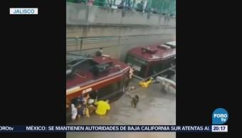 Guadalajara sufre el embate del huracán