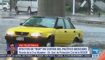 Huracán 'Bud' provocará lluvias en el occidente de México