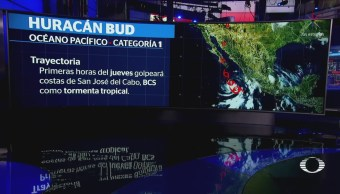 Huracán Bud Degrada Categoría 1 Trayectoria