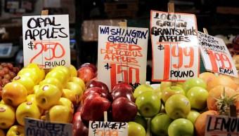 Inflación en Estados Unidos aumenta en 0.2%, a 2.3% anual