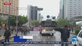 Integrantes Cnte Marchan Llegar Zócalo