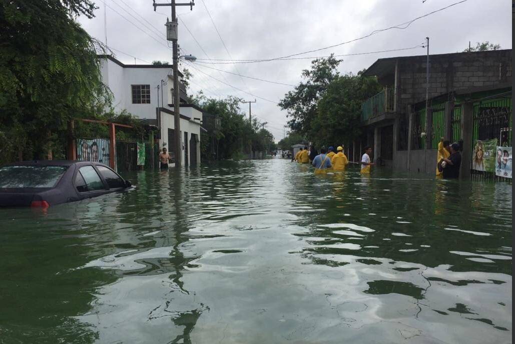 Lluvias afectan por segundo día Tamaulipas; abren albergues