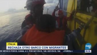 Italia Rechaza Otro Barco Con Migrantes