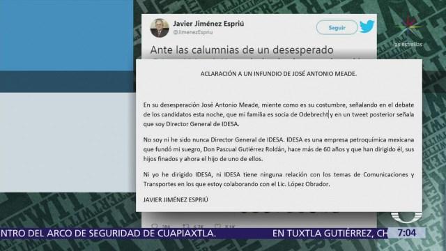 Jiménez Espriú niega haber dirigido Grupo IDESA