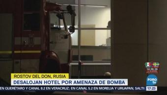 Desalojan Hotel Rostov Donamenaza Bomba