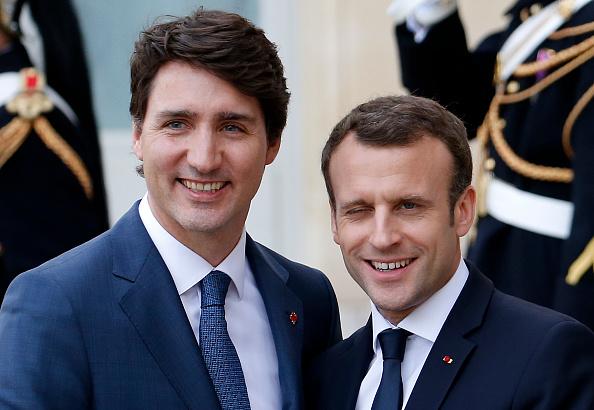 Trudeau y Macron seguirán siendo 'educados' con Trump