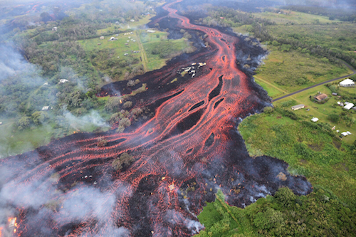 Volcán Kilauea Lava Hawai Kim Flujo