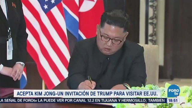 Kim Acepta Invitación Trump Visitar Estados Unidos