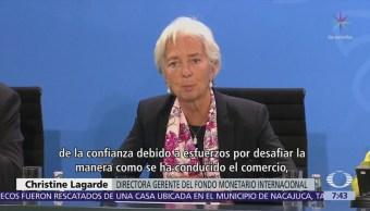 "Lagarde del FMI ve ""nubes grises"" en la economía global"