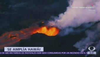 Lava del volcán Kilauea cambia el