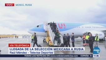 Llega la Selección Mexicana a Rusia