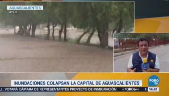 Lluvia afecta a 30 colonias de Aguascalientes