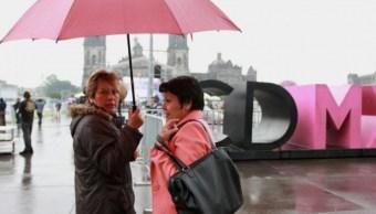 Prevén fin de semana lluvioso en la Cdmx