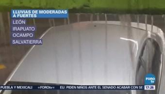 Lluvia en Silao deja daños en más