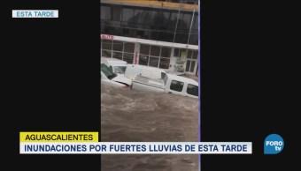Lluvia provoca inundaciones en Aguascalientes