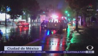Lluvias causan encharcamientos en la Ciudad de México