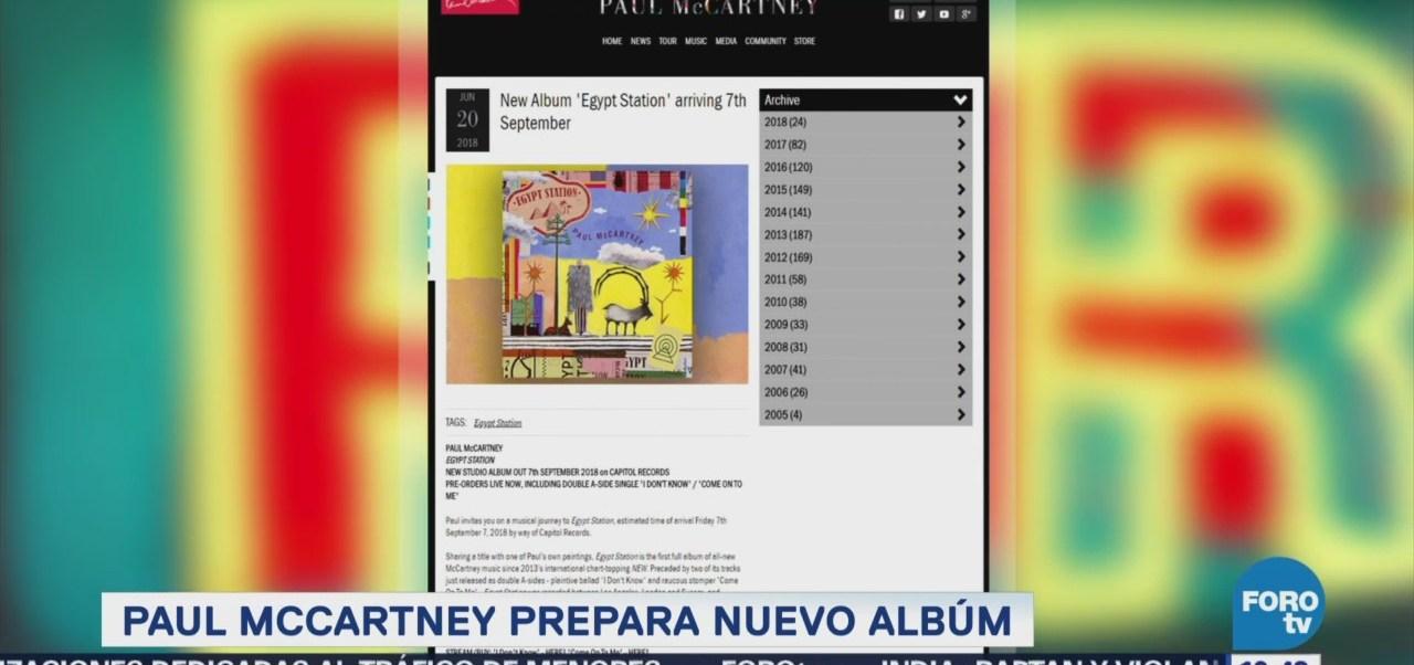 Paul Mccartney Anuncia Lanzamiento Nuevo Disco
