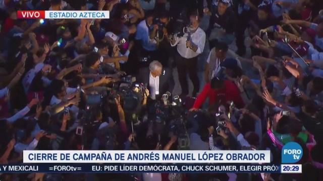López Obrador llega al cierre de campaña en