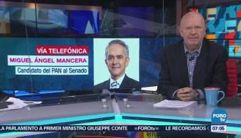 Mancera dice que su candidatura al Senado es totalmente legal