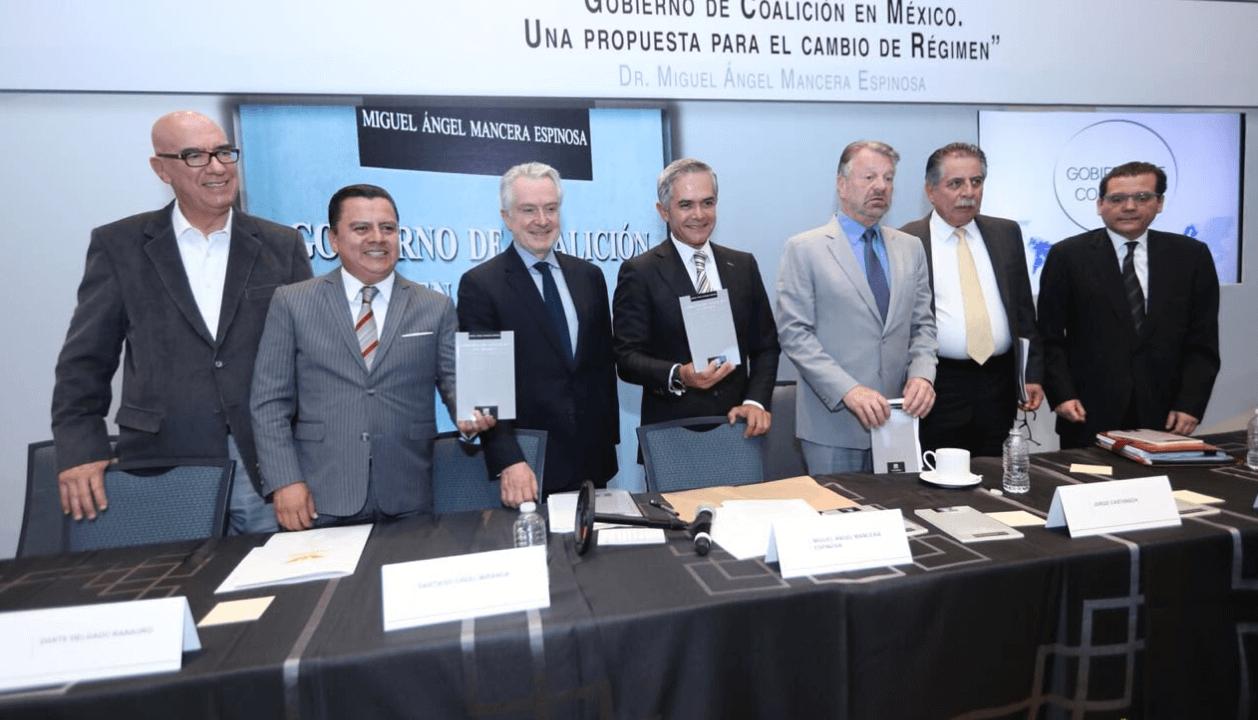 Mancera presenta libro sobre el gobierno de coalición