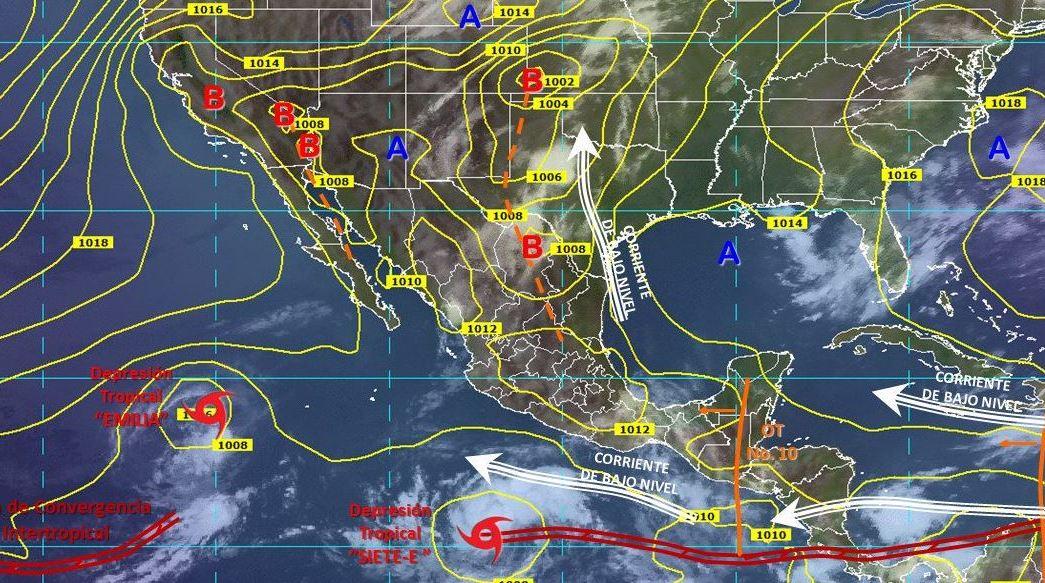 smn pronostica tormentas fuertes servicio meteorologico