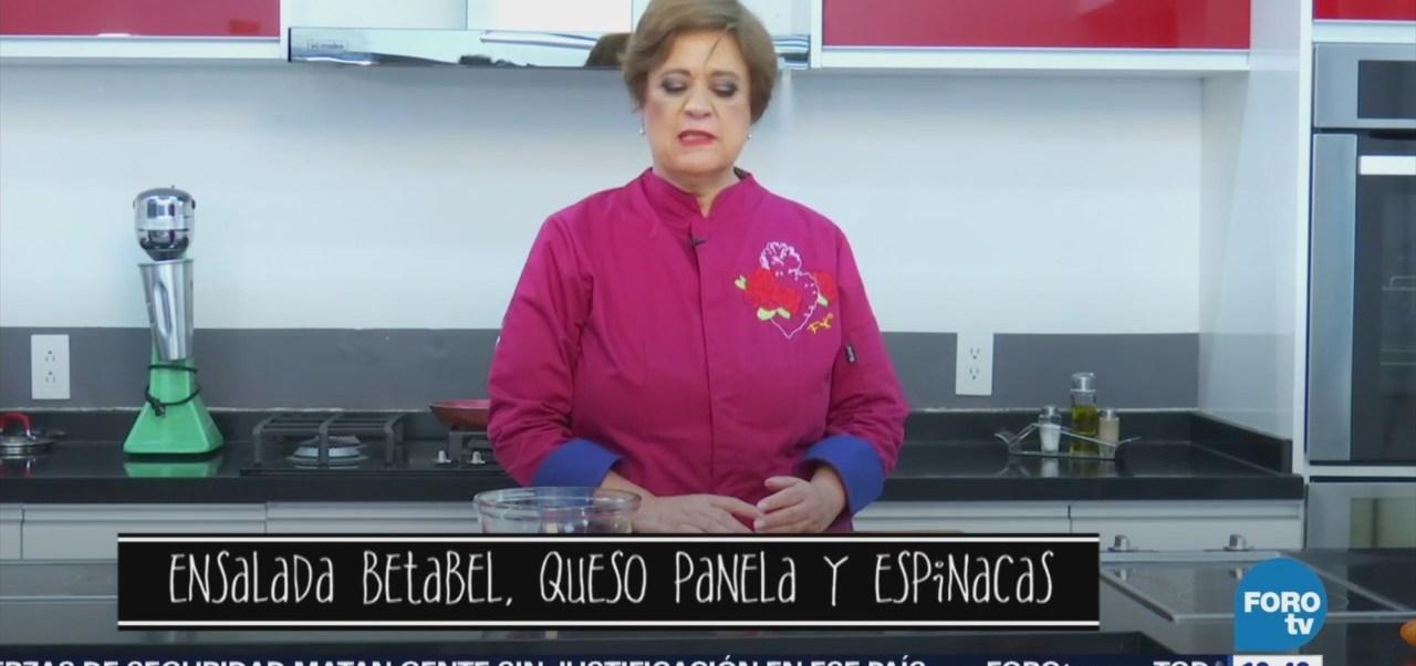 Ensalada Betabel, Panela Espinacas La Chef Verónica De La Piedra