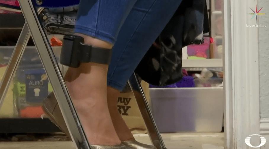Migrante detenida con localizador GPS en el tobillo