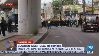 Movilización Policiaca Taxqueña Tláhuac
