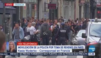 Movilización policiaca por toma de rehenes en París